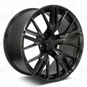 20 Satin Black Staggered New Wheels Rims 2017 Zl1 Style Fits Chevrolet Camaro
