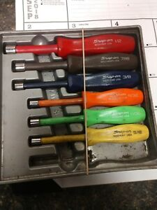 Snap on 6 Pc Composite Sae Nut Driver Set 107cndd Free Shipping