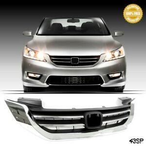 Fits 2011 2013 Acura Tsx Front Bumper Upper Grill Chrome Jdm Hood Style Grille