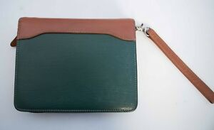 Compact 1 5 Green Top Grain Leather Franklin Covey Quest Planner Binder