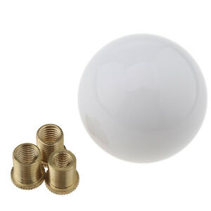 Car Round Ball Gear Shift Knob M8 M10 Handle Stick Head Luminous White