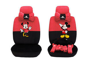 18pcs New 1 Sets Women Lovely Plush Mickey Mouse Car Seat Cover Seat Car Covers