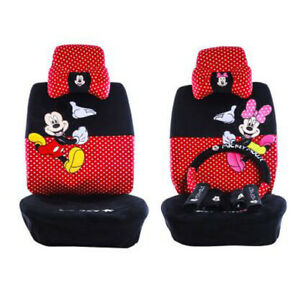 2018new Plush 1 Set Cute Cartoon Mickey Mouse Universal Car Seat Cover 18pcs 802