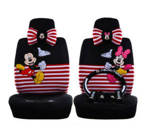 2018 Striped Red Cartoon Mickey Mouse Car Cushion Car Seat Cover Standard 804 1