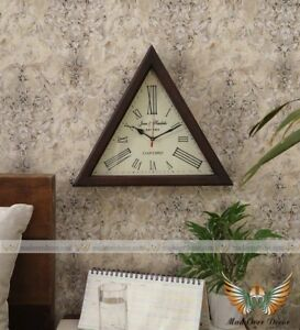 Antique Vintage Collectible Wooden 12 Oxford Triangle Shape Maritime Wall Clock