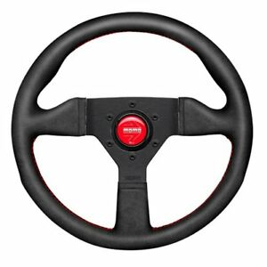 Momo Mcl35al3b Monte Carlo Steering Wheel Diameter 350 Mm Grip Black Alcantara