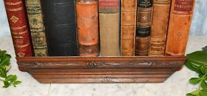 Antique Small Carved Wood Wall Shelf Rack For Plates Art Work Photos