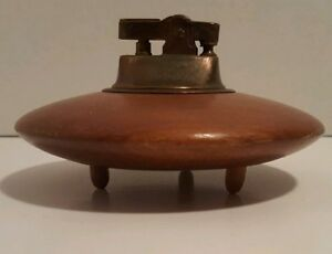 Vintage Retro Space Age Ufo Flying Saucer Spaceship Table Lighter