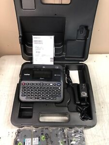 Brother P touch Pt d600 Pc conn Label Maker Color Display Hard Case Ink X 4