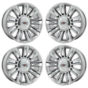 22 Cadillac Escalade Platinum Pvd Chrome Wheels Rims Factory Oem 4740 Exchange