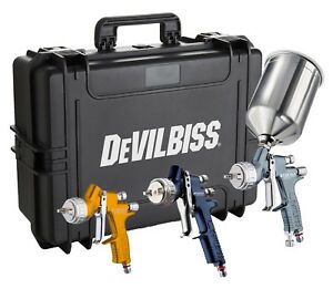 Devilbiss 704239 Tekna Premium 3 Gun Painter S Spray Gun Kit