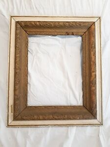 Vintage Ornate Gesso Wood Picture Frame 26 1 2 X 22 1 2 Fits 18 X 14