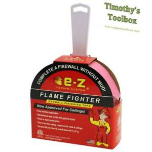 E z Drywall Flame Fighter Mudless Fire Tape For Walls ceilings 250 ft W Knife
