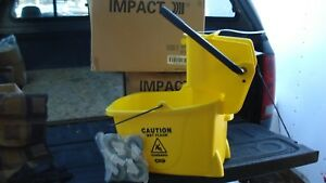 Mop Bucket With Side Press Wringer 35 Quart Yellow