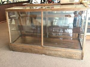 Vintage Antique Wood And Glass Store Display Case S