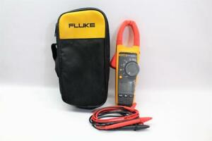 Fluke 375 True rms Ac dc Clamp Meter With Case Leads