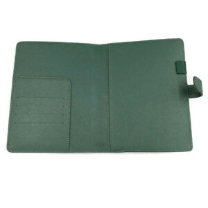A5 Cover For Hobonichi Planner With Snap Closure Green Faux Leather