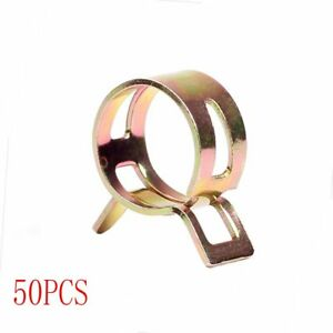 Id 1 4 6 Mm Spring Clip Vacuum Fuel Oil Hose Line Band Clamp Low Pressure 50 Pc