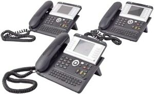 Lot Of 3 Alcatel lucent Ip Touch 4068 Ip Business Office Phone W handset