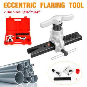 Eccentric Cone Flaring Tool Kit Pipe Steel 5 19mm For Automobile Maintenance New