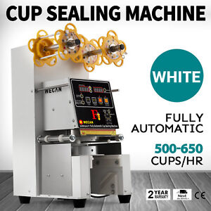 Electric Fully Automatic Cup Sealing Machine 420w For Coffee Milk Cup Sealing