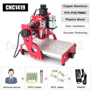 1419 Cnc Laser Engraving Soft Metal Wood Router Carving Milling Cutting Machine