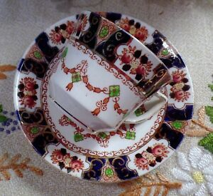 Doric China Imauri Style Hand Painted Cup Saucer 1926 1935