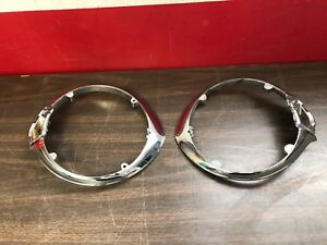 1941 Plymouth Head Light Bezels 1 Nos 1 Nors 119