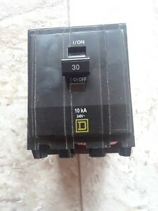 Qob 330 Square D 30 Amp 3 Pole Bolt in Circuit Breaker new Takeout
