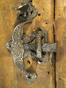 Antique Victorian Cottage Entry Door Handle Thumb Latch Set