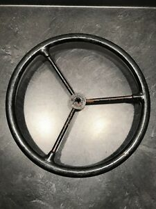 Vintage 15 Black Sheller 652 Steering Wheel Rat Rod