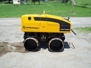 Jcb Vibromax Vm1500 only 95 Hours Vibratory Remote Controlled Trench Roller