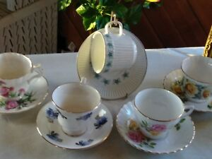 Royal Imperial Bone China Tea Cups Johnson Brothers Ironstone Vintage Lot