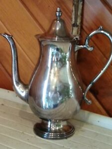 Fb Rogers Silver Co Tea Pot Silver Farmhouse Antique Coffee Decor Service Ware