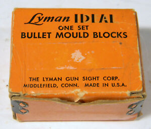 LYMAN IDEAL ONE SET BULLET MOULD BLOCKS 400-43 WITH BOX
