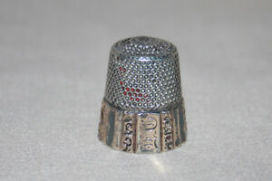 Antique Sterling Silver Thimble Ketcham Mcdougall Mkd Size 10