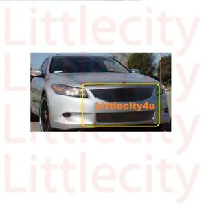 For 2008 2009 2010 Honda Accord Coupe Billet Grille Grill Combo Inserts Bolt On
