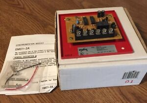 Amseco Sms1 3a Fire Alarm Synchronization Module Red