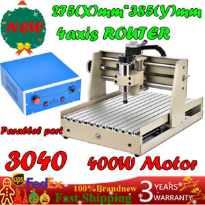 Router Engraver Engraving Cutter 4 Axis 3040 T screw Desktop Cutting 400w Motor