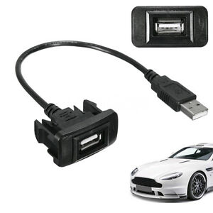 For Toyota1 Car Dashboard Flush Mount Usb Male To Female Extension Cable Adapter