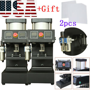 2xpneumatic Rosin Double sided Printing Plane Heat Presses Machine Safe gift Us