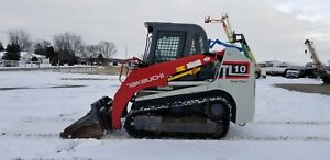 2013 Takeuchi Tl10 Track Skid Steer Loader Loaded High Flow Kubota Mulcher