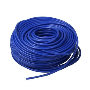 Blue 0 20 5mm Vacuum Silicone Hose Intercooler Coupler Pipe Turbo 100 Feet