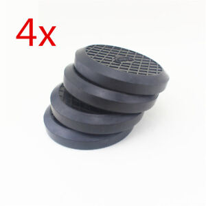 Heavy Duty Rubber Car Post Lift Arm Pad Disc 125mmx21mm Auto Repair Shop 4pcs