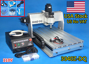 us 3 Axis 3040z dq Lpt Desktop Ball Screw Milling Cnc Router Engraving Machine