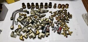 Huge Lot Of 115 Hydraulic Adapters fittings Brass Steel Free Shipping