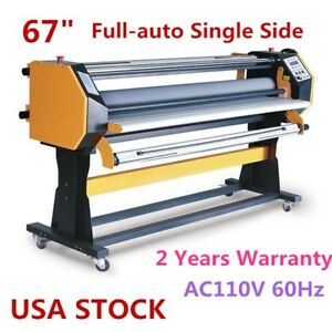 67 Full auto Large Format Hot Cold Laminator With Stand Single Side Us Stock
