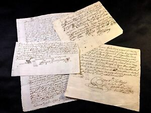 Lot Of Four Spanish Documents 1600 1700s