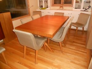 Mid Century Th Robsjohn Gibbings For Widdicomb X Base Dining Table Retro Vintage