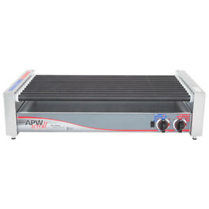 Apw Wyott Hrs 50 Non stick Hot Dog Roller Grill 30 1 2 Flat Top 120v
